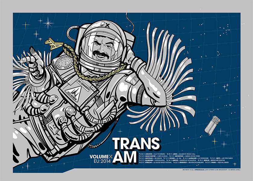 Trans Am Europe Tour Poster